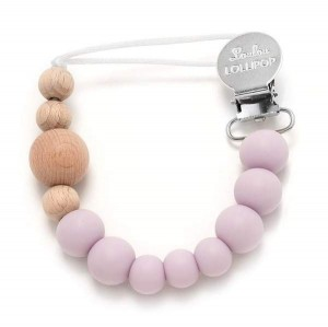 LOULOU LOLLIPOP Zawieszka do smoczka Color Block Lilac